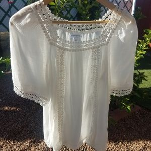 ||3 for $10|| NWOT Passports White Blouse, Size- S